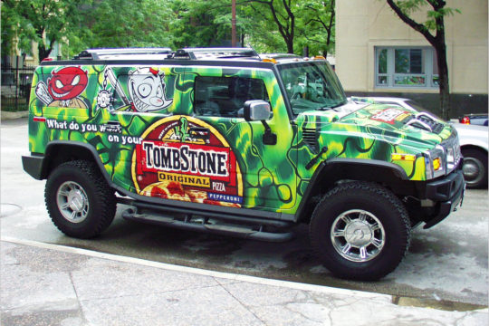 Tombstone Hummer Wrap